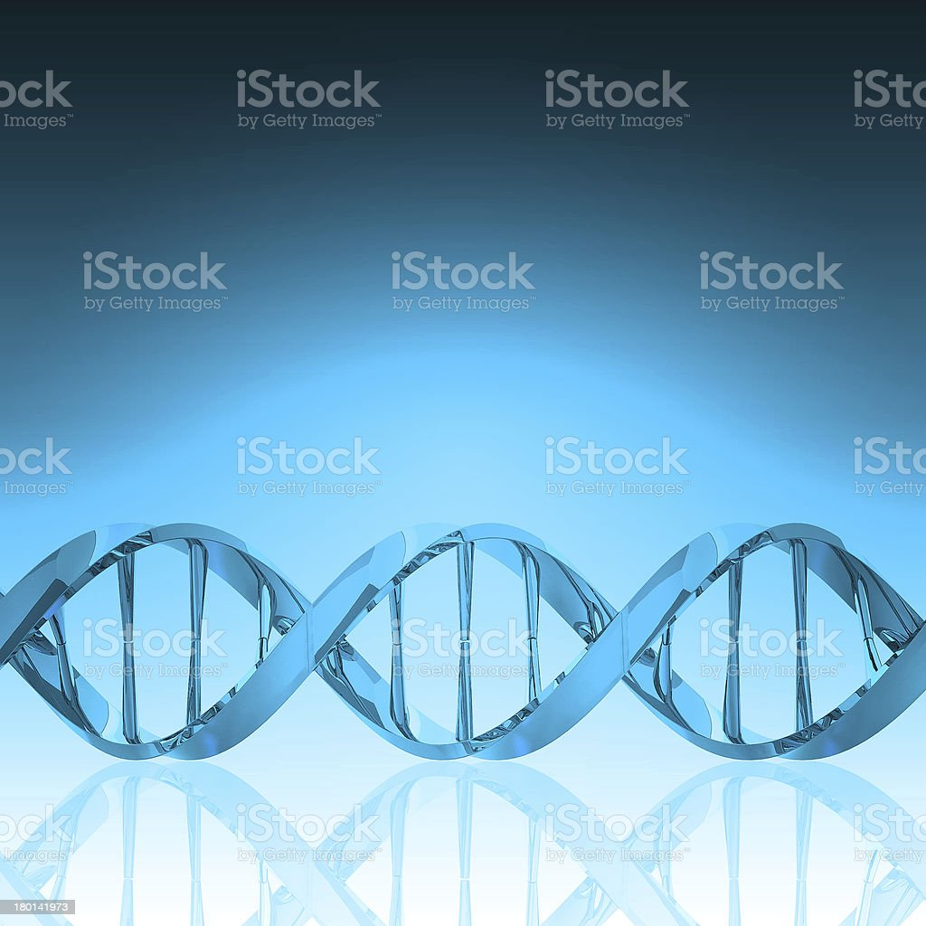 DNA structure model royalty-free stock photo