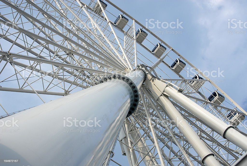 Structure of a Farris Wheel at Myrtle Beach royalty-free stock photo