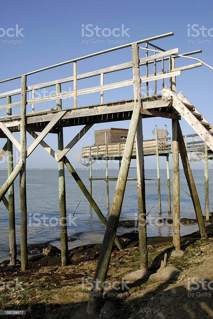 Structure of carrelet fishing royalty-free stock photo