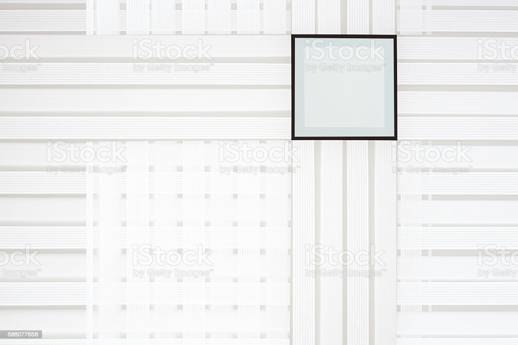 Structure of latticed jalousie on windows stock photo