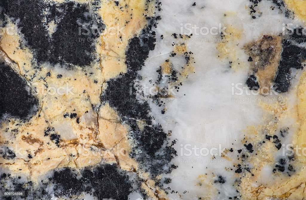 Structure of natural mineral serpentine with magnetite. stock photo