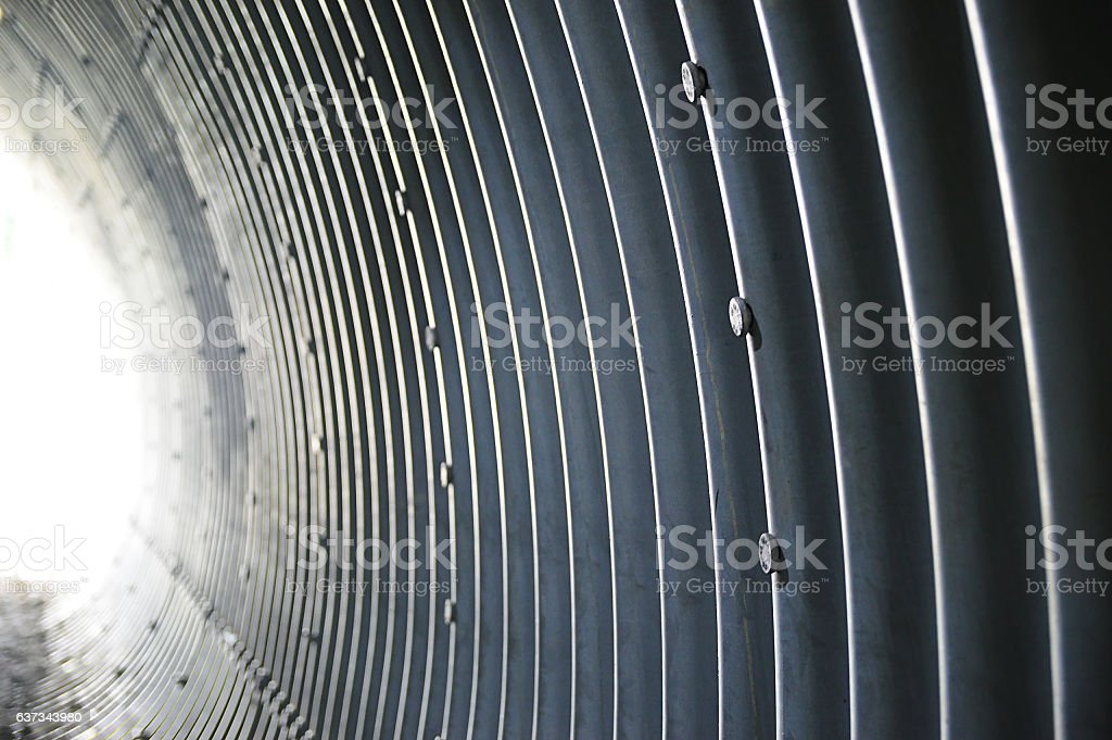Structure of the tunnel stock photo
