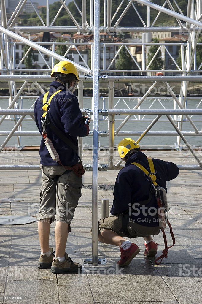 Structure worker royalty-free stock photo