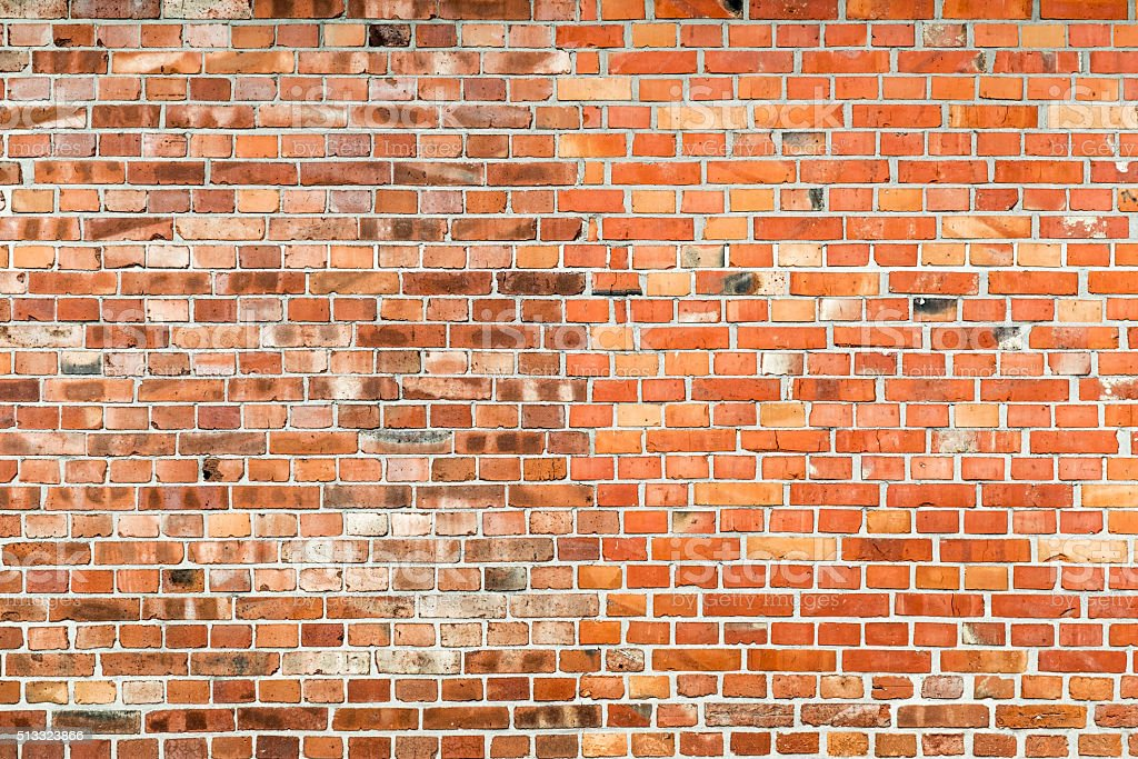 Structured brick wall stock photo