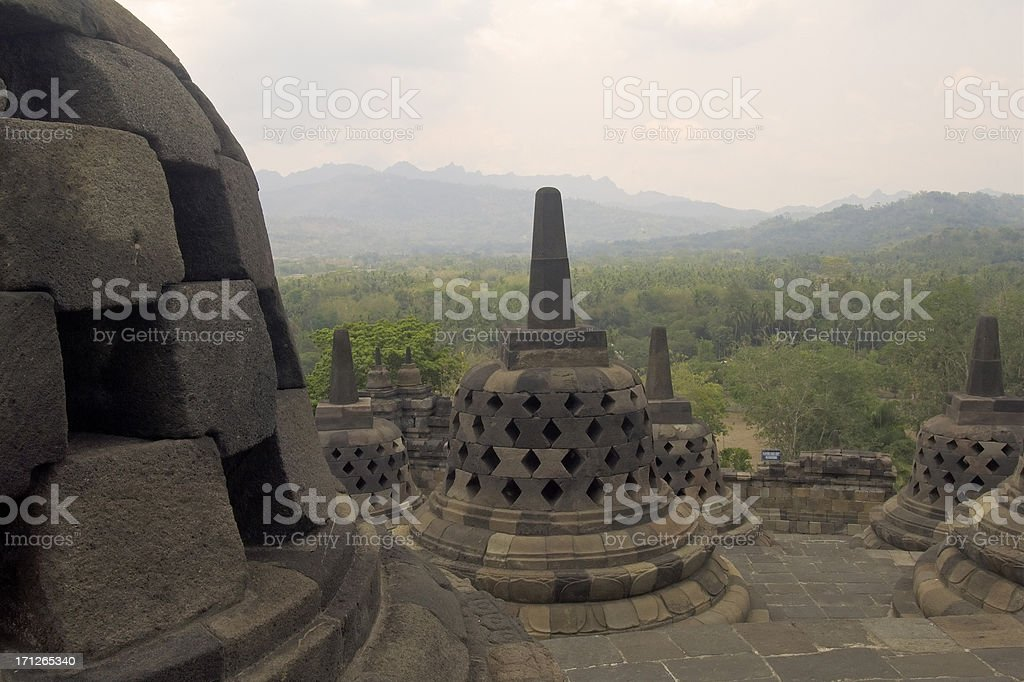 Structures in Borobudur royalty-free stock photo