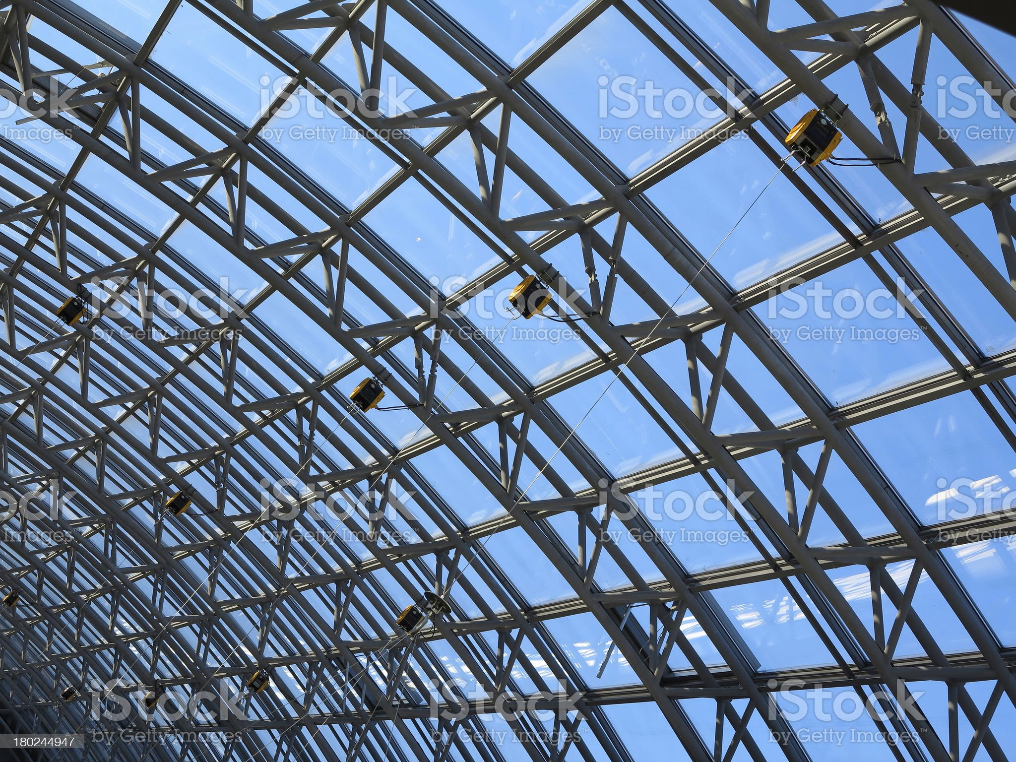 Structures of skylight glass roof window royalty-free stock photo