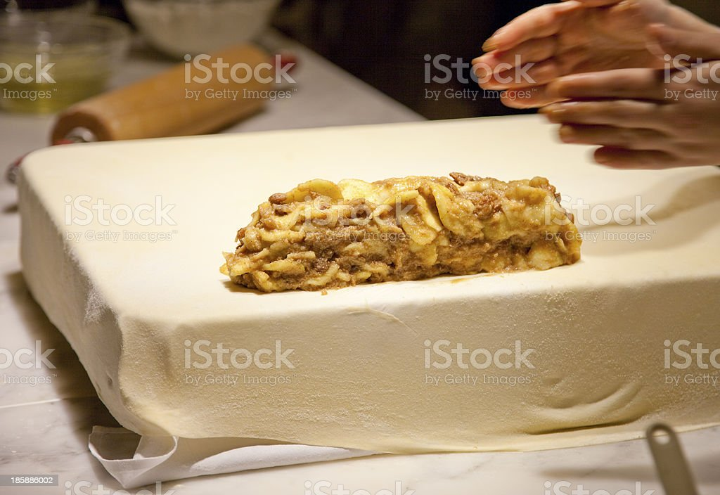 Strudel cooking royalty-free stock photo