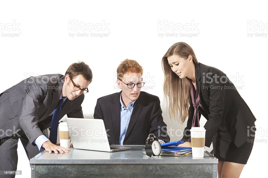 Struggeling with Time and Deadline royalty-free stock photo