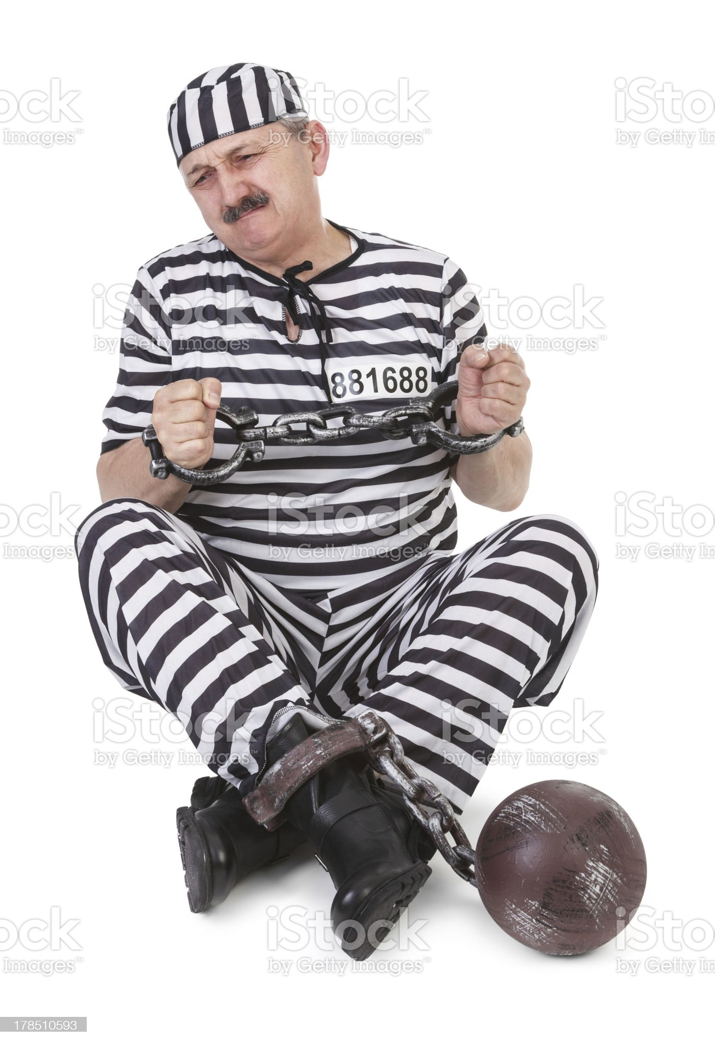 struggle with handcuffs royalty-free stock photo