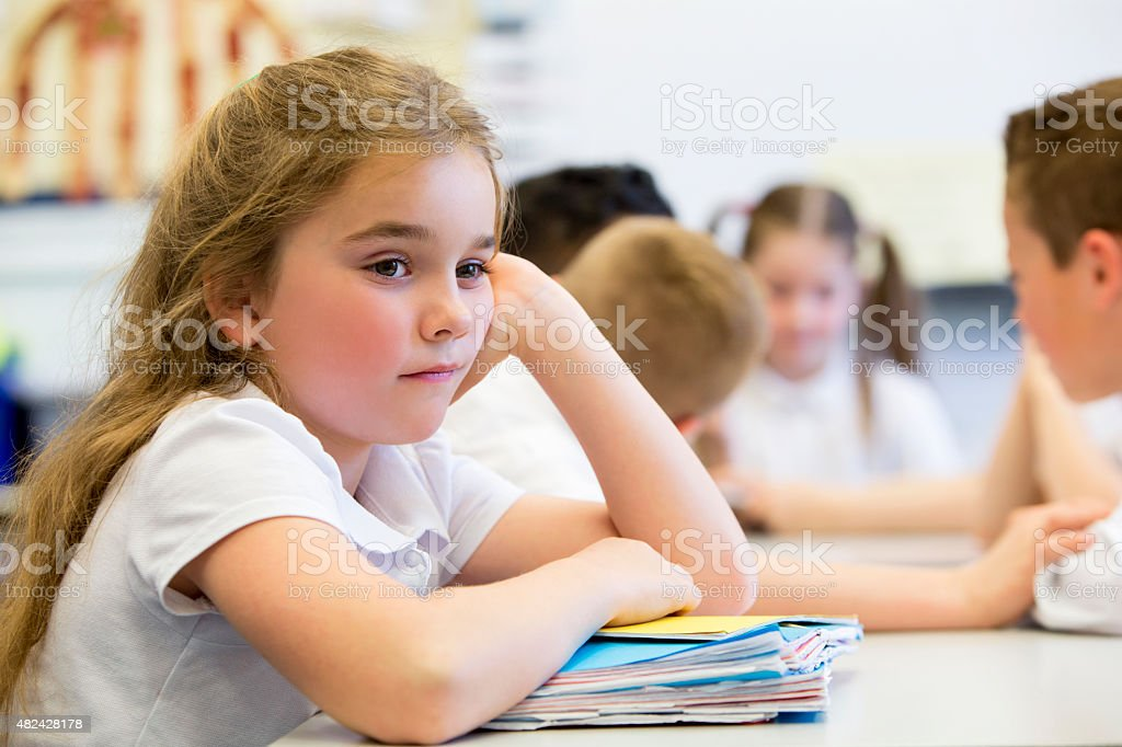 Struggling At School stock photo