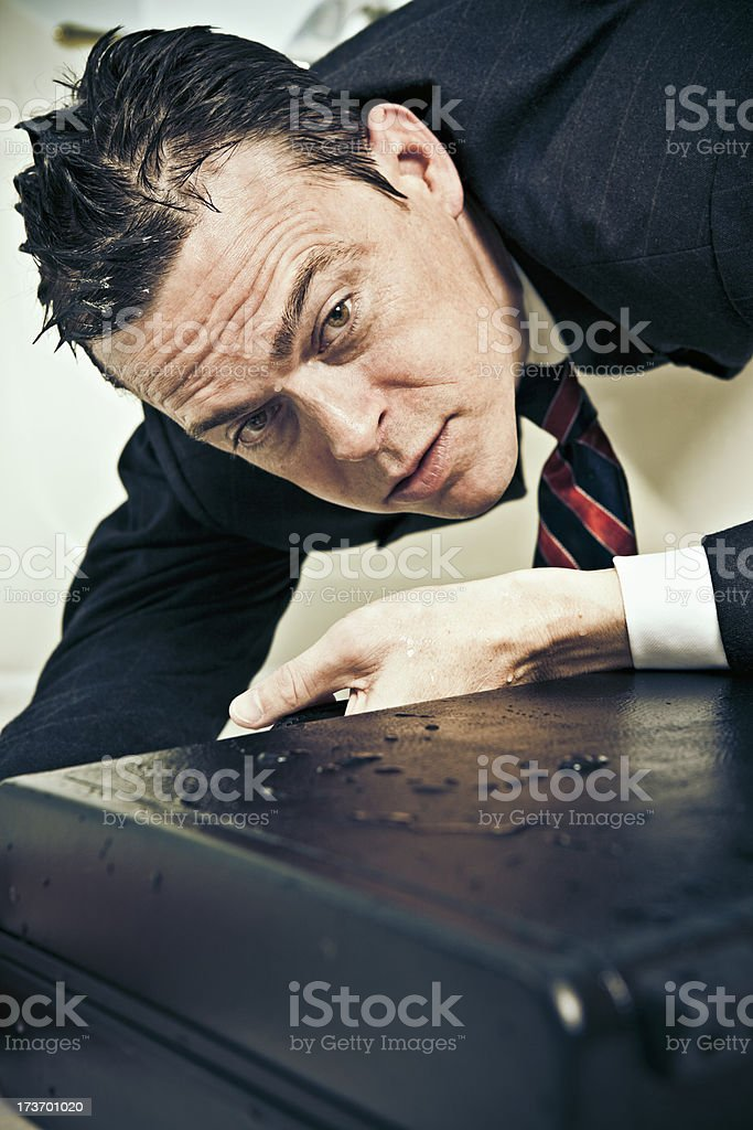 struggling businessman royalty-free stock photo