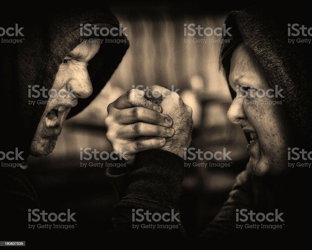 Struggling Couple royalty-free stock photo