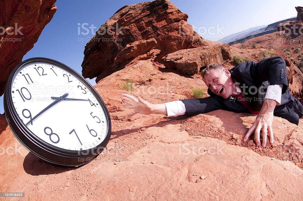 Struggling for Time royalty-free stock photo