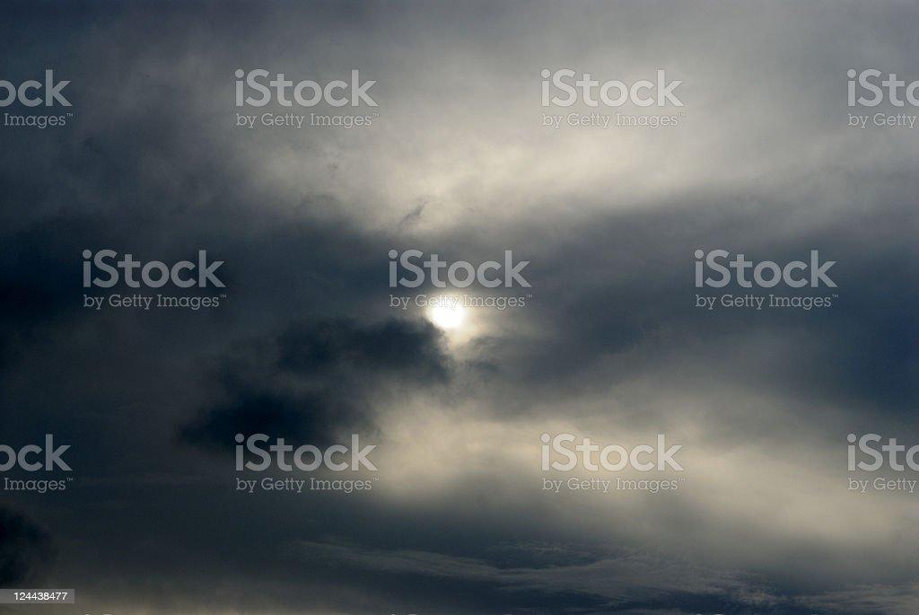 Struggling Sun royalty-free stock photo
