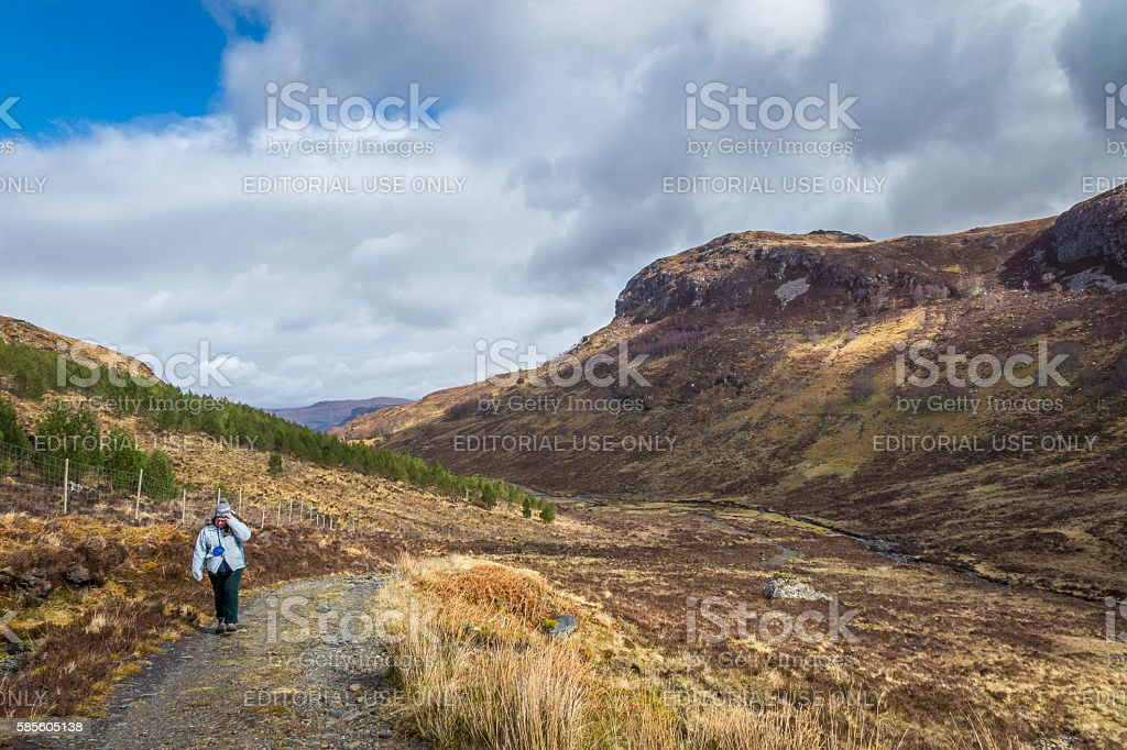 Struggling Uphill stock photo