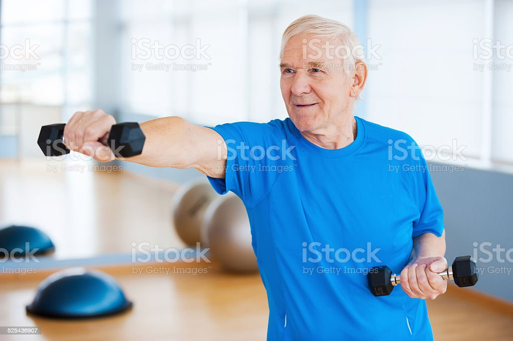 Struggling with age. stock photo