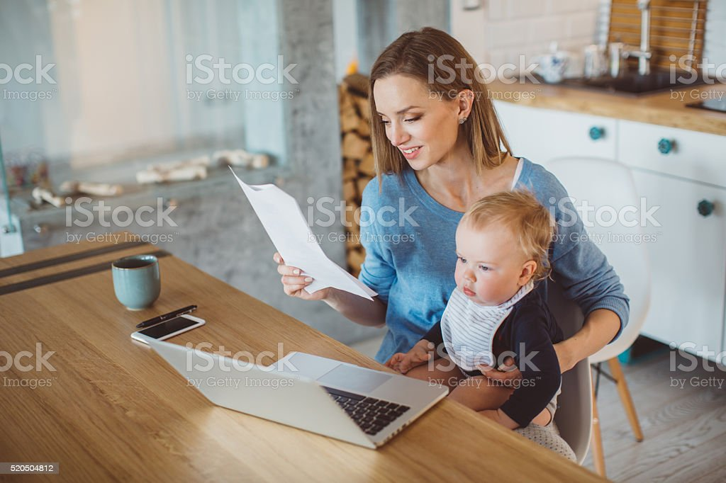 Struggling with finances stock photo