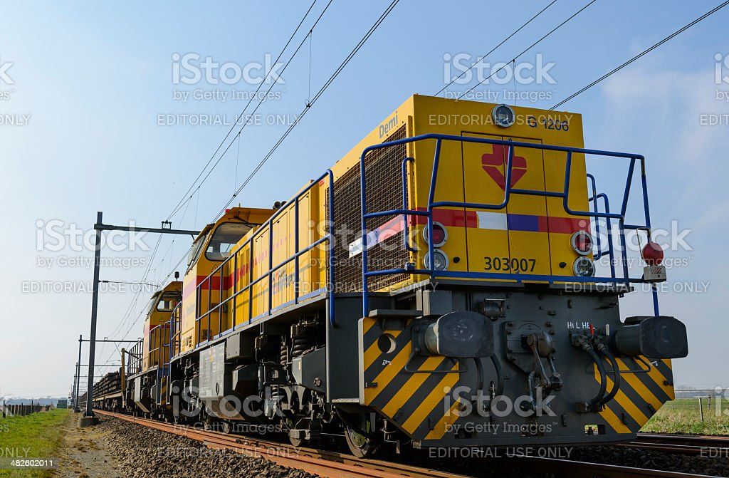 Strukton Locomotive stock photo