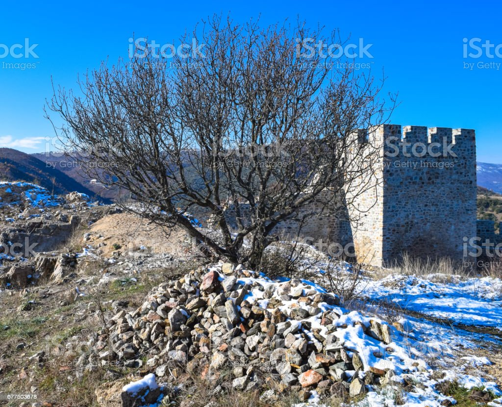 Strumitsa Macedonian fortress stock photo