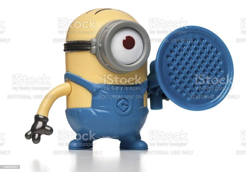 Stuart Blaster Minion McDonalds happy meal toy stock photo