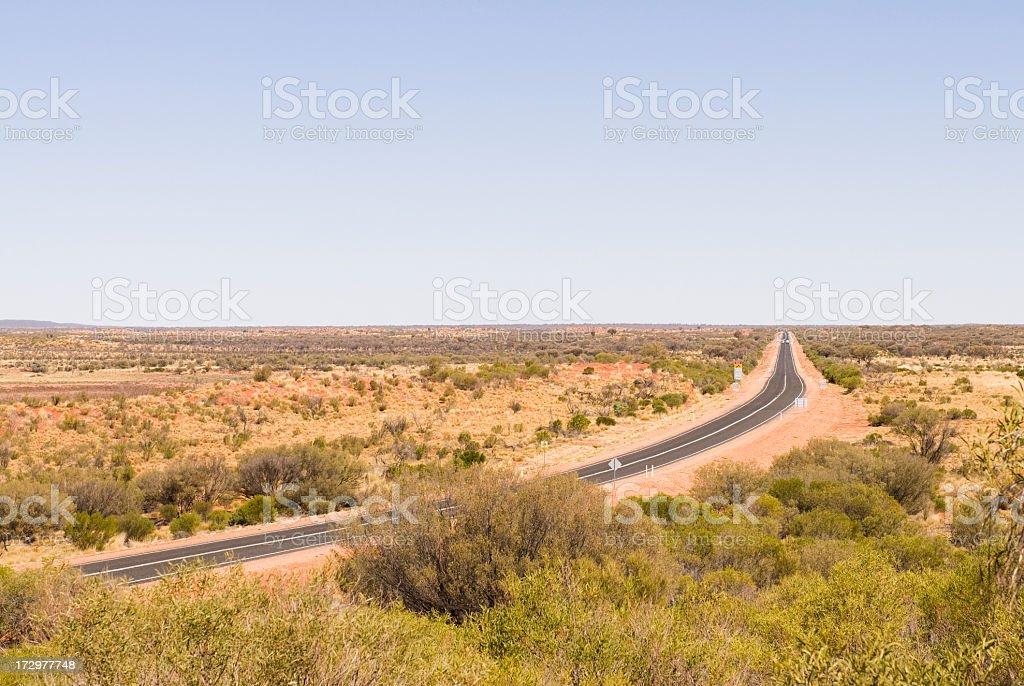 Stuart Highway royalty-free stock photo