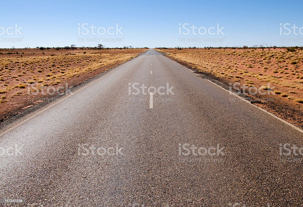 Stuart Highway through the Red Centre stock photo