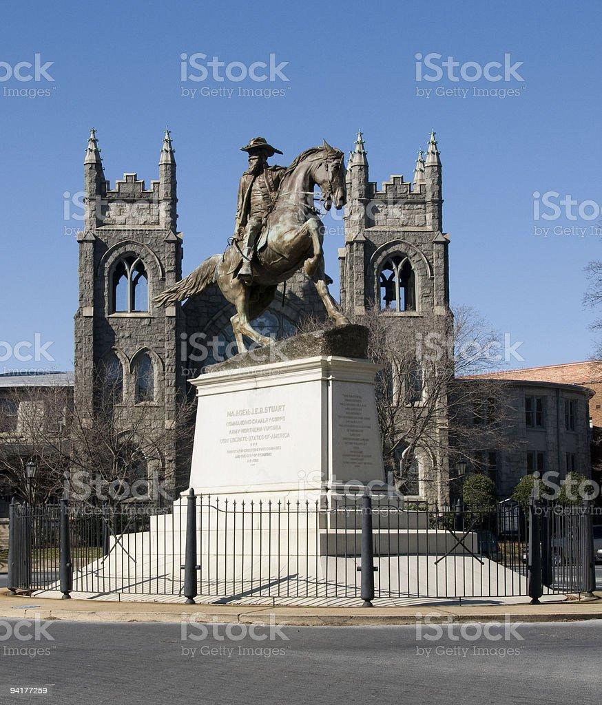 J.E.B Stuart Monument stock photo