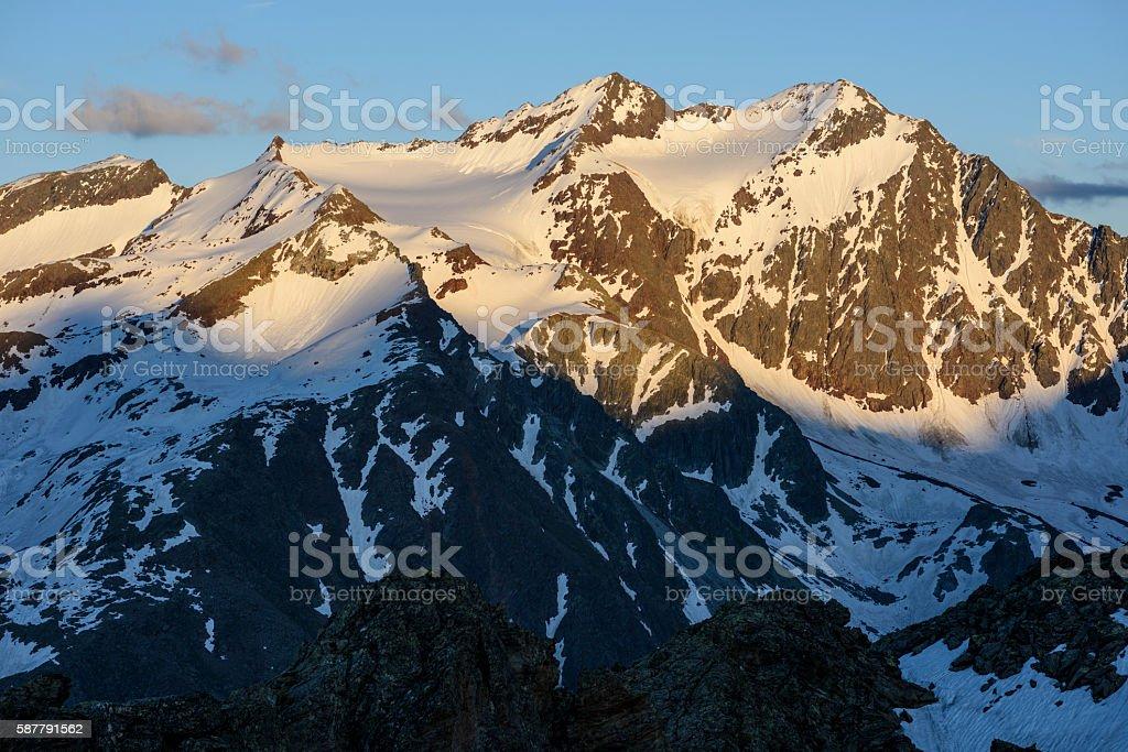 Stubai Alps, Feuerstein, Mairspitze stock photo
