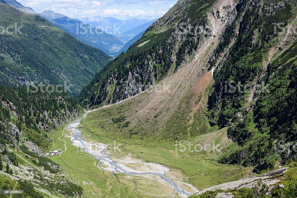 Stubai Alps, Sulzenaualm, Almboden stock photo