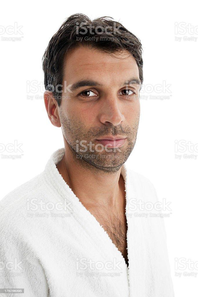 Stubbly man Looking at the camera royalty-free stock photo