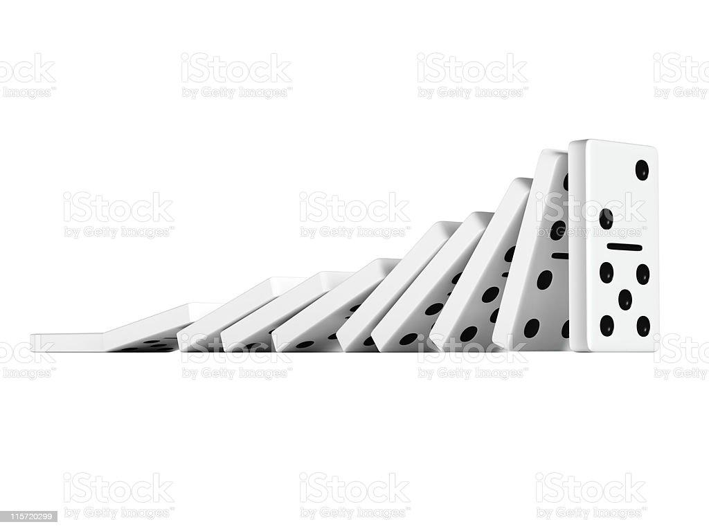 Stubborn Domino stock photo