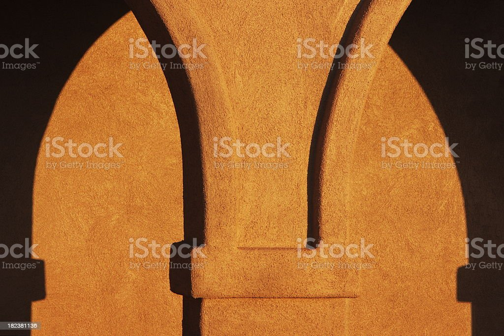 Stucco Arch Architectural Shadows royalty-free stock photo