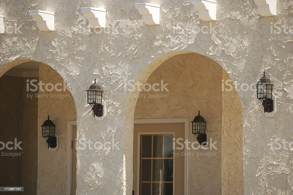 Stucco Arches royalty-free stock photo