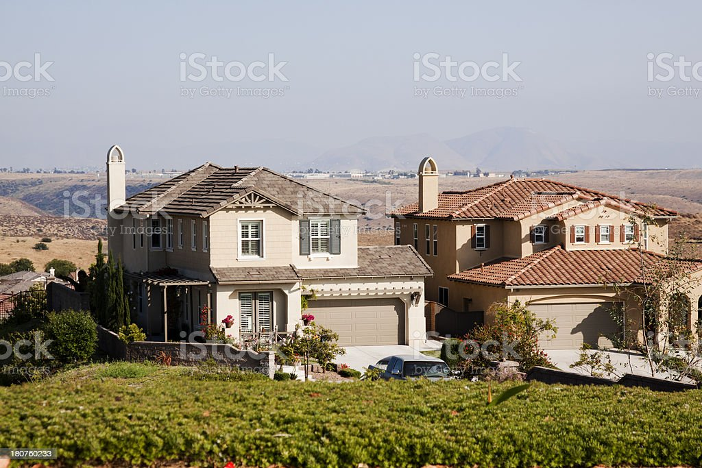 Stucco Home Exteriors royalty-free stock photo