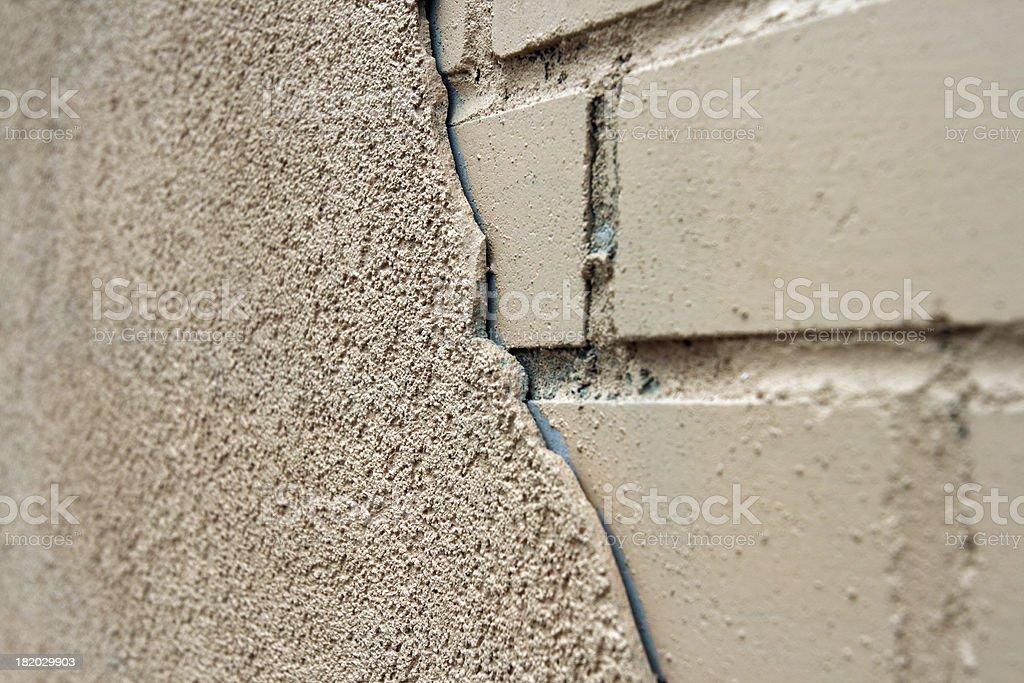 stucco meets brick royalty-free stock photo