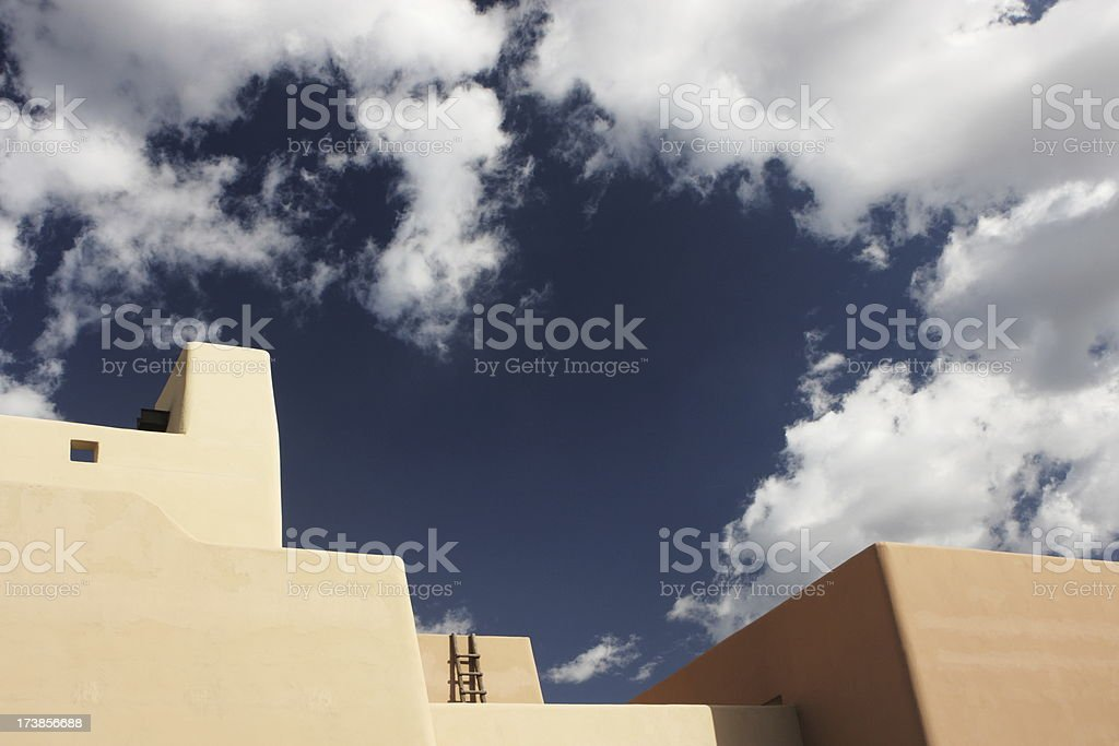 Stucco Parapet Southwest Architecture stock photo