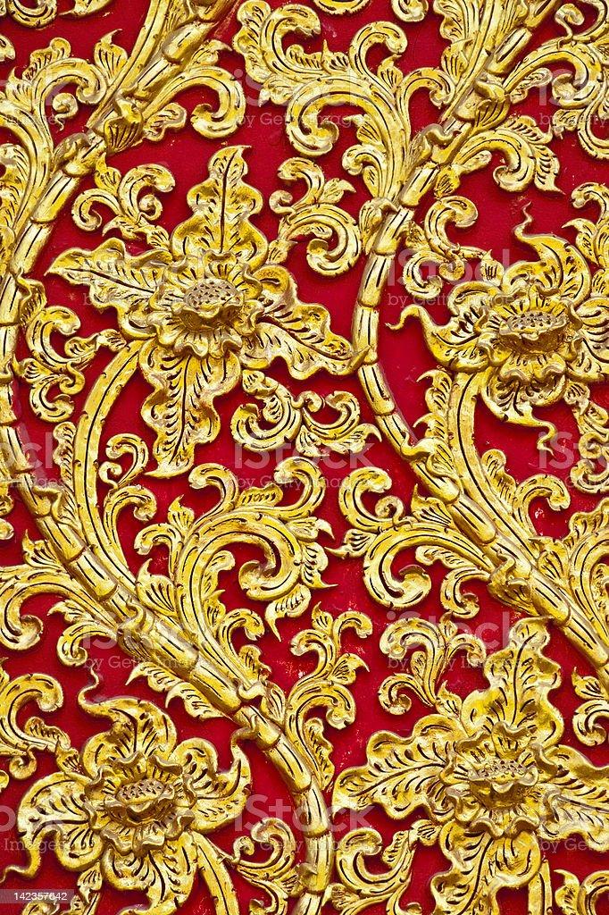 Sztukateria tajskim stylu art zbiór zdjęć royalty-free