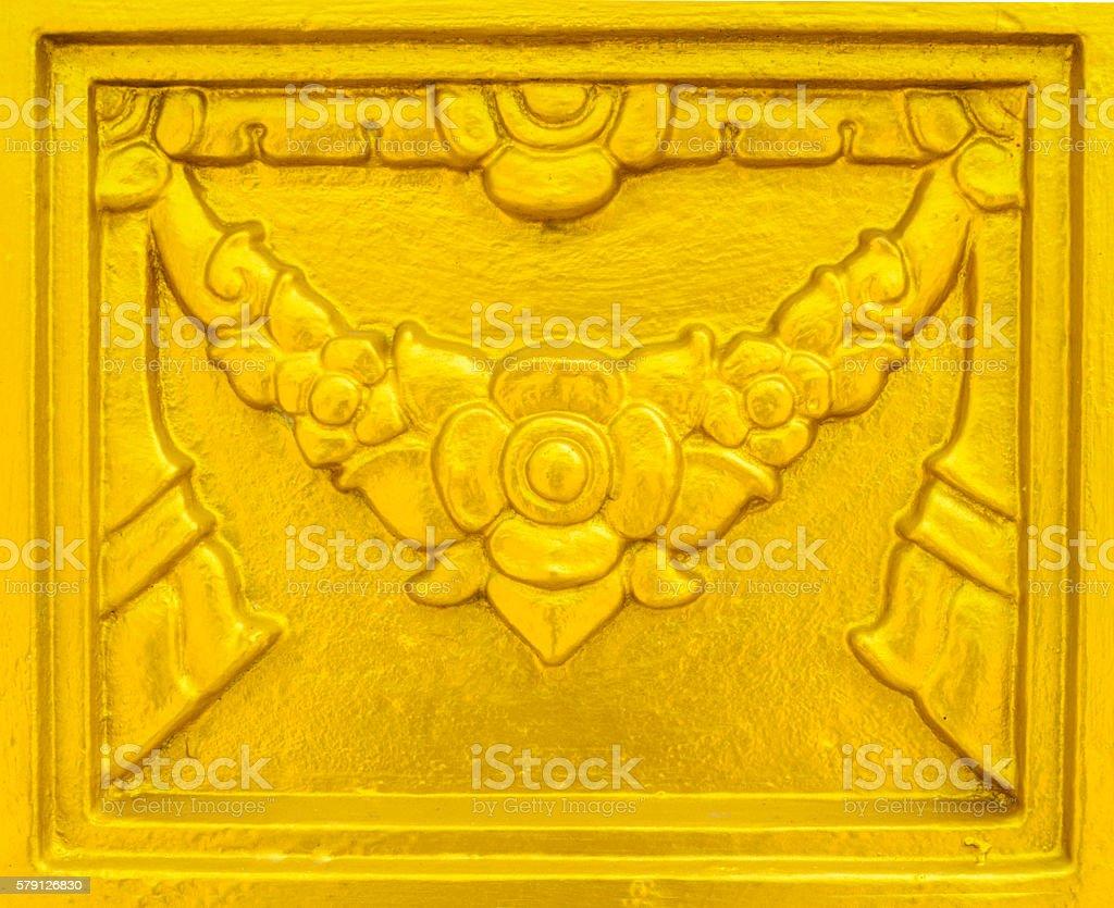 Sztukateria ściany stylizowane Kwiat Tajlandii zbiór zdjęć royalty-free