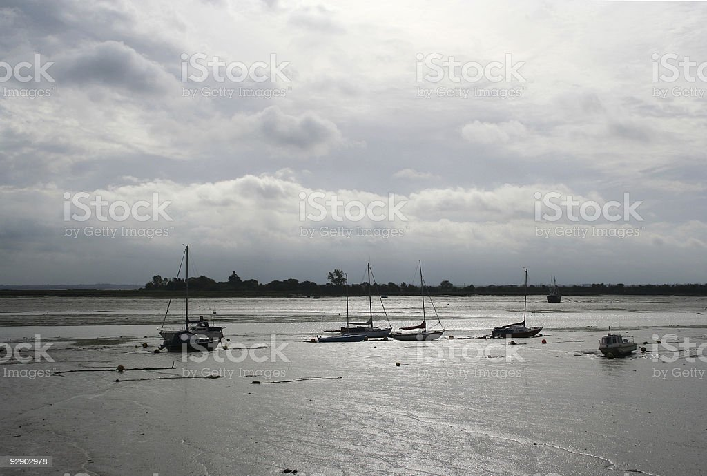 Stuck at Low Tide stock photo