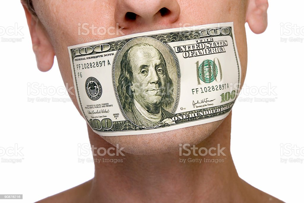 stuck by a $100 royalty-free stock photo