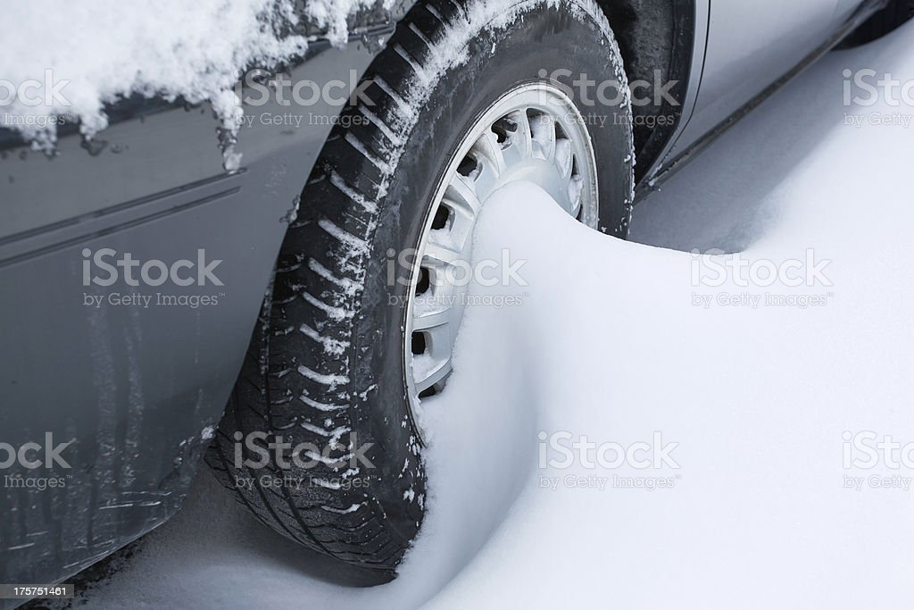 Stuck in a Snow Storm royalty-free stock photo