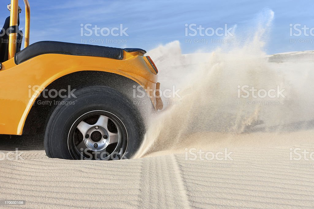 Stuck in sand stock photo
