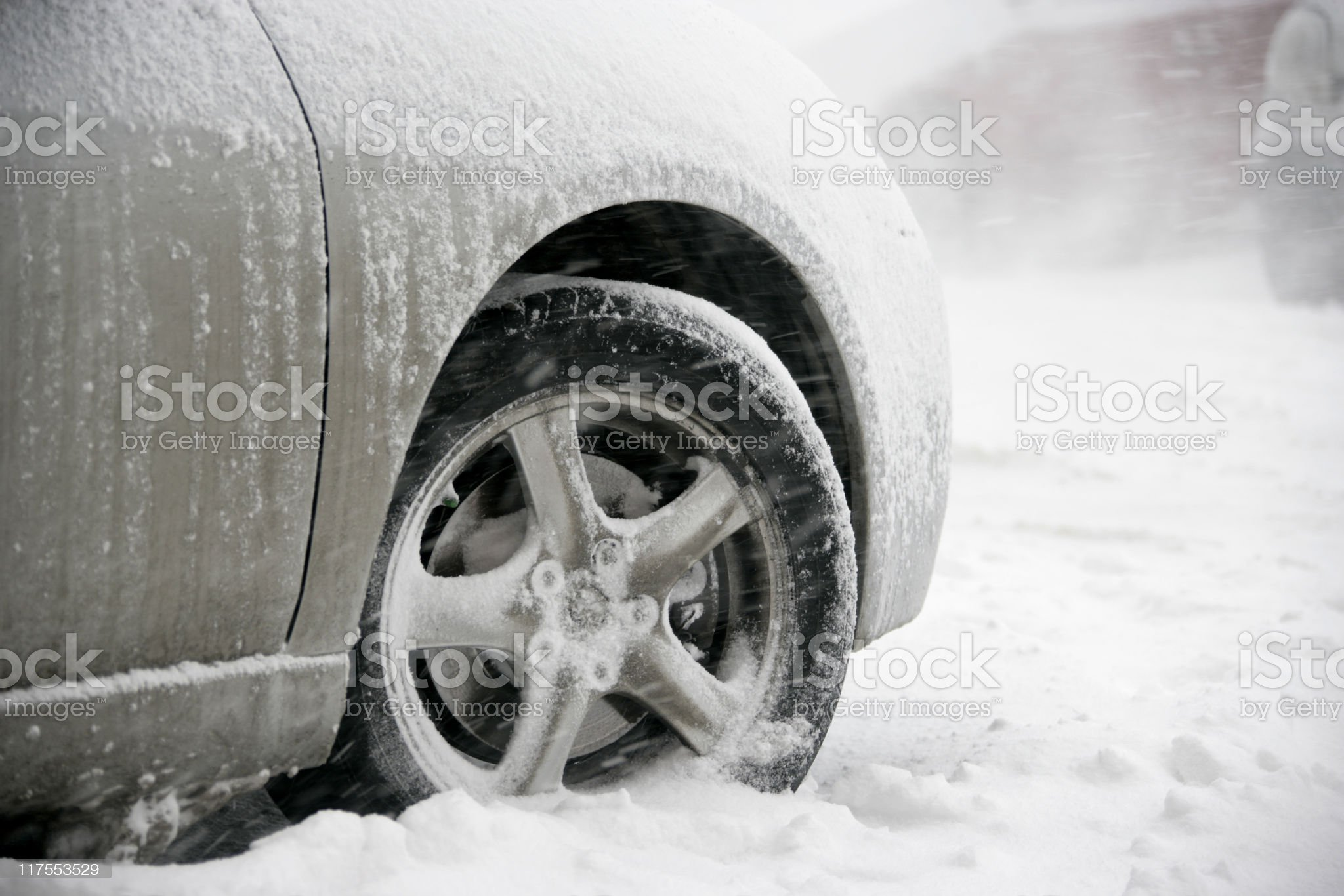 stuck in snow royalty-free stock photo