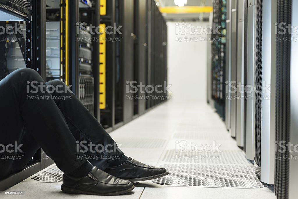 Stuck in the datacenter stock photo