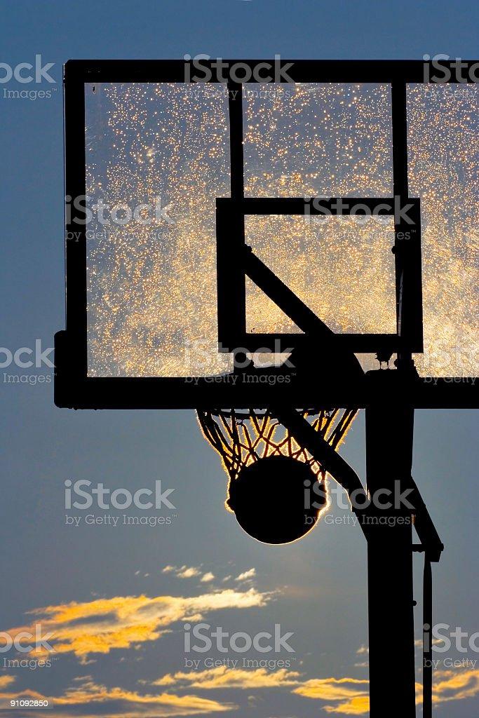 Stuck in the hoop stock photo