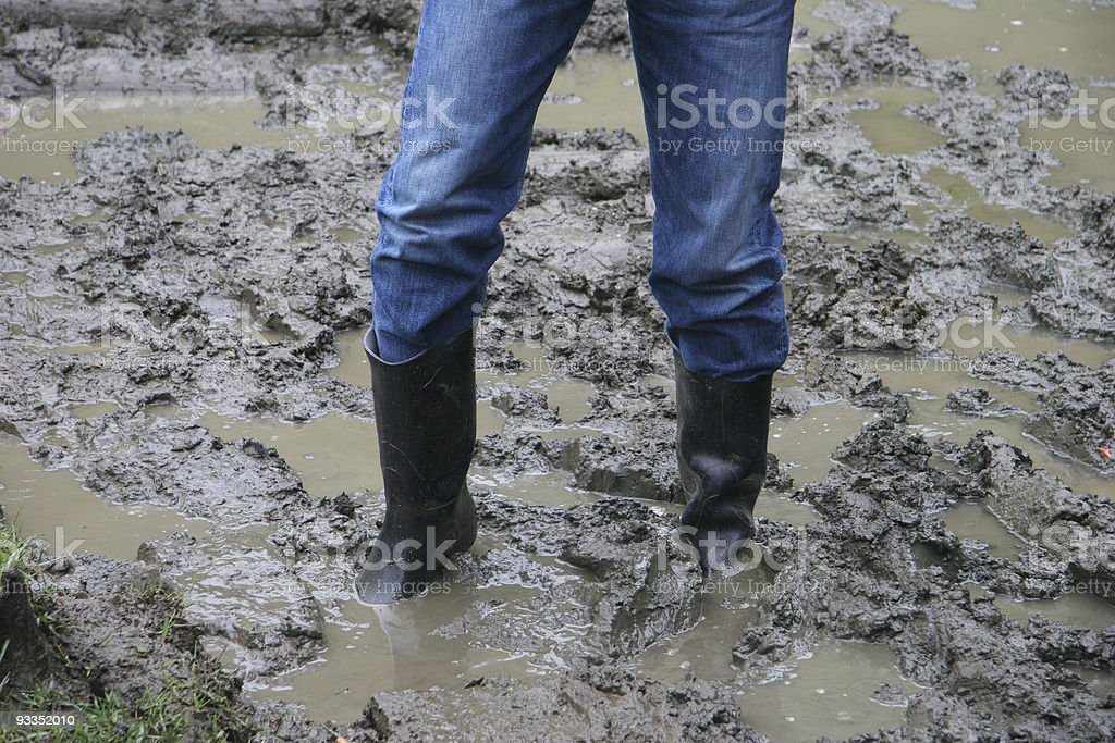 Stuck In The Mud stock photo
