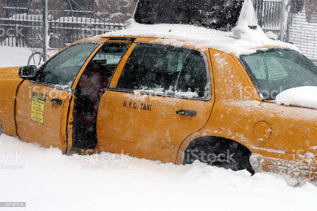 stuck taxi royalty-free stock photo