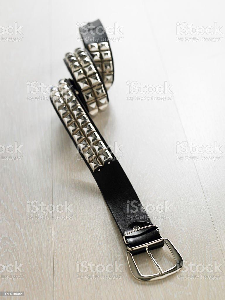 studded belt stock photo