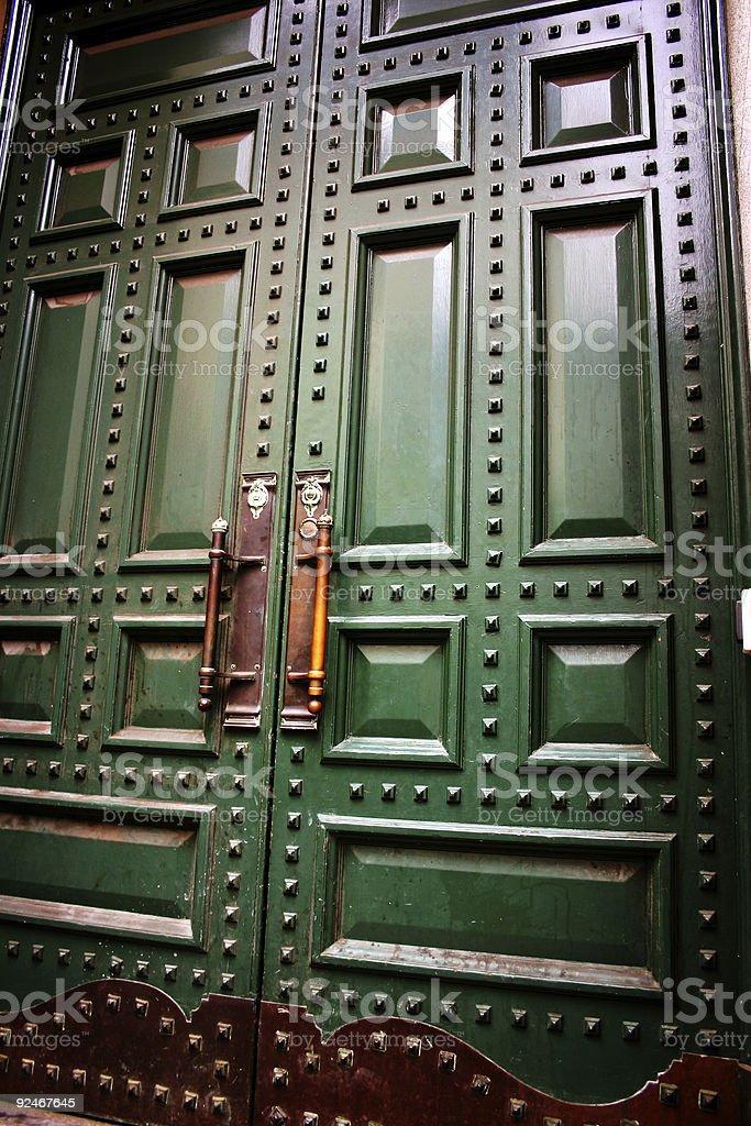 Studded Doors royalty-free stock photo