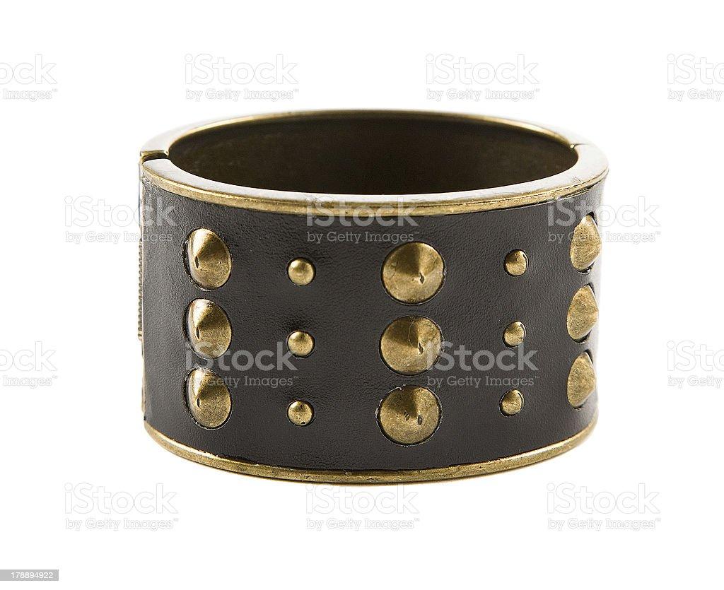 Studded leather bangle stock photo